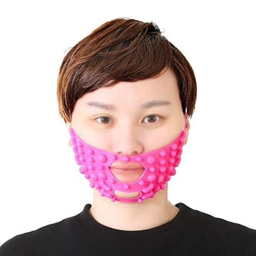 ZUCAI Gesichtsmassagebandage Dünnes Gesicht mit Anheben und Straffen, um das Muster zu verbessern und eine kleine Doppelkinnmaske mit V-Gesicht, Größe 53 * 8 cm, zu erstellen - Gesichts-haut-anheben Haut, Face Lifting