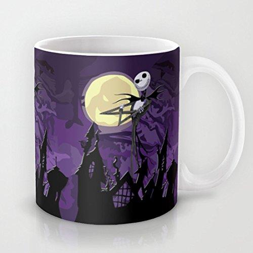 5 Fall Ipod (ouliyou Funny Neuheit Tasse für Arbeit-Halloween lila Sky mit Jack Skellington iPhone 44S 55C, iPod, iPad Kissen Fall TShirt und Becher)