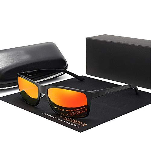 JU DA Sonnenbrillen Neues Design Aluminium Magnesium Sonnenbrille Männer Polarisierte Quadrat Fahren Sonnenbrille Männliche Brille Zubehör Für Männer Schwarzrot