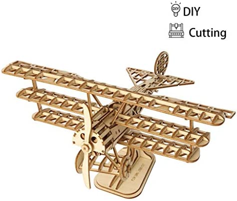 DIY 3D puzzle en bois d'avion de jeu cadeau pour les enfants enfants modèles de construction de jouets populaires Loisirs   Que Nos Produits Vont Dans Le Monde