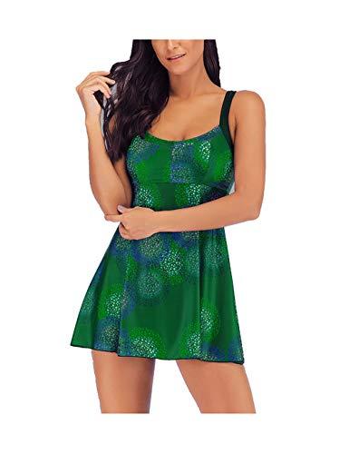 Print Zwei Stück Höschen (WYSTAO Badeanzug Frauen Sling 2 Stück Print Split Badeanzug und Dreieck Höschen Sexy Neue Badeanzug Urlaub Schwimmen Beach Party Camping Sonnenbaden grüne Badebekleidung (Farbe : XXXL))