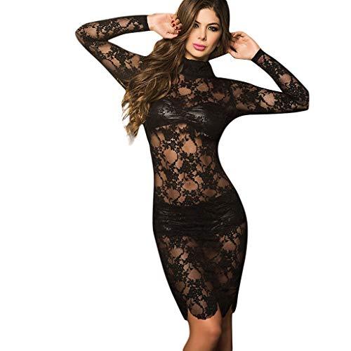 ღღJiaMeng Damen Vollbrust Faux Leder Corsagenkleid Korsett Übergrößen Schwarz Sexy Body Dessous Rückenfrei Spitze Bodysuit -