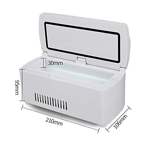 41JxK3HUThL - Drug Reefer, mini refrigerador, caja de insulina para diabetes, caja de insulina para automóvil, refrigerador para automóvil, refrigerador portátil pequeño para medicamentos (blanco) Edición estándar