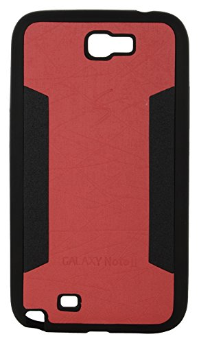 iCandy™ 2 Color Soft Leather Finish Back Cover For Samsung Galaxy Note 2 N7100 - Red  available at amazon for Rs.160