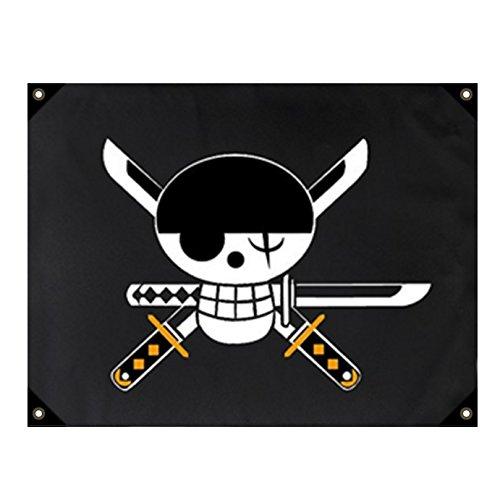 papapanda Fahne für One Piece Piraten Anime Flagge Flag ()