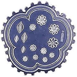 Forma del corazón del molde del silicón de la margarita hoja de las flores de resina molde para la realización de bricolaje joyería del clavo de la plantilla del arte del molde Babysbreath17 5.4*5.4cm