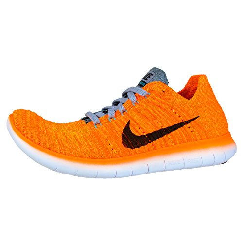Nike Wmns Free Rn Flyknit, Scarpe da Corsa Donna Arancione (Lsr Orange / Blck-Gmm Bl-Cl Gry)