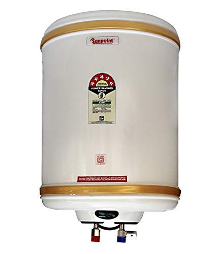 Premium 6 Litre Water Heater Geyser With 5 Star Rating ||Pressure Relief Velve ||Fusible Plug || Thermal Cutout || Extra Long ISI Heating Element || ISI Marked Thermostat || P-01