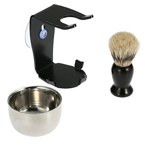 Preisvergleich Produktbild Mouchao Original Manual Rasierpinsel mit Sauger altmodisch Rasiermesser Rasiermesser Schwarz