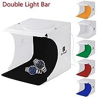 24x23x22 cm Kit de Tienda Mini Cubo Estudio Foto Difusor Luz Suave Iluminación Caja de Fotografía , con 6 Telones de fondo para Estudio Foto Video y Fotografía
