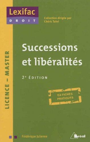Successions et liberalites 2ème édition