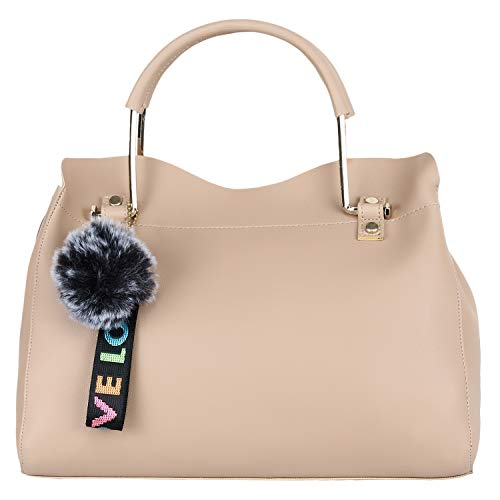 7. Don Cavalli Beige Women's PU Leather Handbag