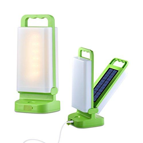 Luz solar portátil, LED plegable plegable Linterna solar 3 modos de iluminación con 24 LED, alimentado por el panel solar y carga ligera USB adecuado para emergencias, senderismo, acampada o iluminación interior