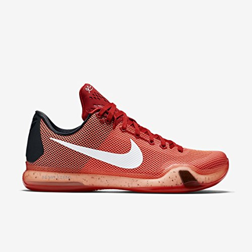 Nike Kobe X, Scarpe da Basket Uomo Multicolore (Rojo / Blanco (Unvrsty Rd / White-Brght Crmsn-H))