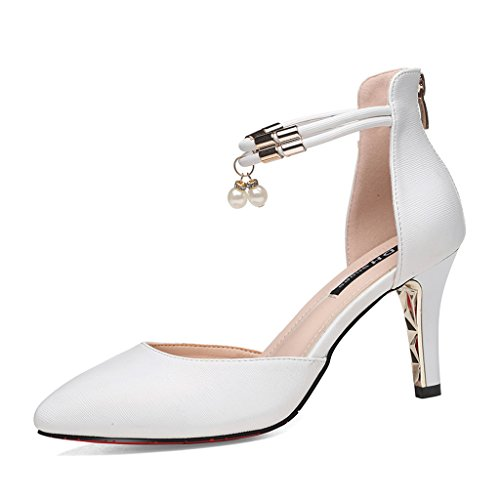 HWF Scarpe donna Fashion Mid Heel Pointed Sandals Donna Scarpe col tacco  alto Scarpe da donna