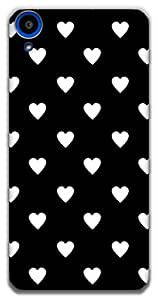 The Racoon Lean printed designer hard back mobile phone case cover for HTC Desire 820. (Ebony and)