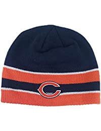 Reebok Men's NFL Hat Chicago Bears On Field Navy Blue Beanie Cuffless Headwear