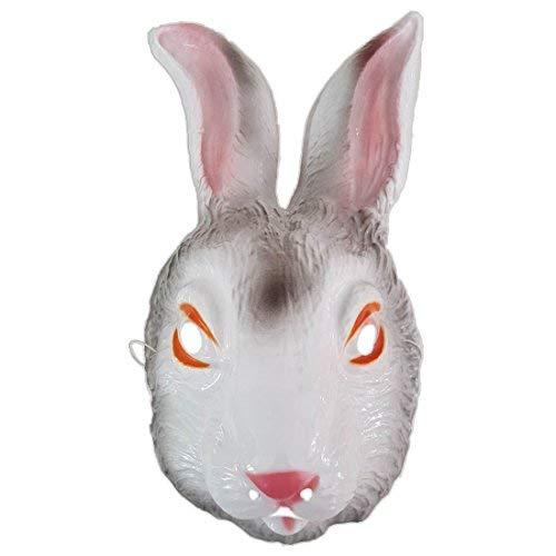 Hasenmaske Hasen Maske weiß Hase Maske Kaninchen Tiermaske Kostüm Zubehör Fasching - Weißen Bunny Kostüm