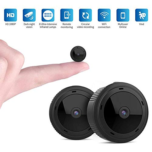 OOOUSE Mini Spy Camera, Mini WiFi Hidden Camera Wireless HD 1080P Security Camera with Night Vision Motion Detection, Wide-Angle Monitoring
