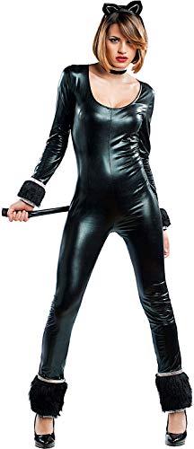 arneval Black CAT Luxury fuumlr KARNAVALKOSTUumlME Fancy Dress Halloween Cosplay Veneziano Party 53187 Size XL ()