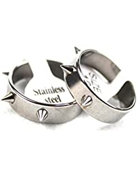 Wide 4mm Fashion Punk Spikes Rivets Stainless Steel Couple Rings For Women Jewelry Wholesale
