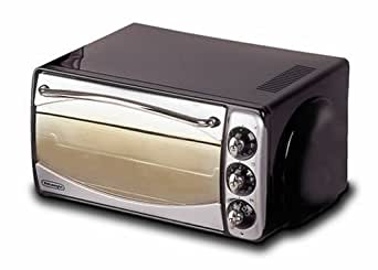 De'Longhi RO191 Electric Table Top Fan Oven (Black and Silver)