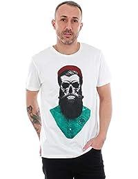 JACK & JONES Camiseta Hombre Blanco 12146410 JORART Branch tee SS Crew Neck Cloud Dancer REG