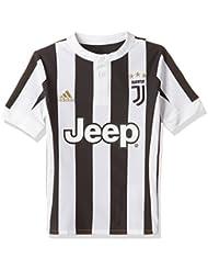 Juventus 17/18 Enfants - Maillot de Foot Réplique Domicile - Blanc/Noir
