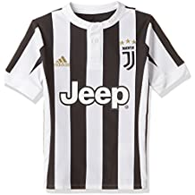 adidas Juve H JSY y Camiseta 1ª Equipación Juventus 2017-2018, Niños, Blanco / Negro, 128