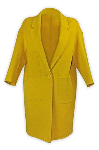 Well Knitting Damen Mantel Mehrfarbig Mehrfarbig Gr. 52, Mehrfarbig - Citrine