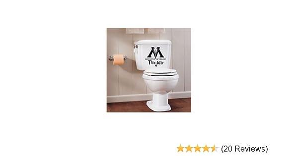 Ministry of magic aufkleber cm schwarz wc badezimmer