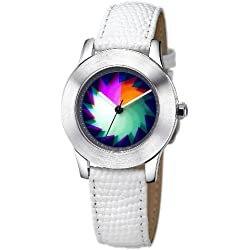 Rainbow e-motion of color Women's Quartz Watch Elegancia EL47A-B-WL-sa with Leather Strap