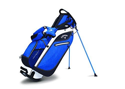 Callaway 2017 Hyper-Lite 3 Stand Bag Mens Golf Carry Bag-4 Way Top Blue/Black/White -