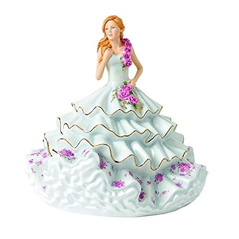 Royal Doulton Victoria Foy 2017 Figurine, Porcelain, Cream, 22.5 x 23 x 22.5 cm