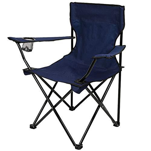 ZXXxxZ Tragbare Camping Angeln Stuhl Gepolsterte Lounge Chair Klappbare Rückenlehne Outdoor Strand Stuhl Rutschfeste Metallrahmen -