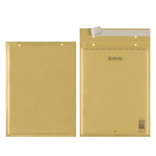 Herlitz 793604 Luftpolstertasche G braun 10er haftklebend (Trifix)