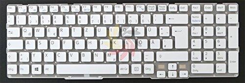 Nexpert Orig. deutsche QWERTZ Tastatur Sony Vaio SVE171E13M SVE1712C5E SVE171B DE Weiss Neu, Bitte beachten Sie, dass die Tastatur in diesem Angebot kein Rahmen hat. Deswegen muss man beim Einbau das alten Tastaturrahmen weiter vervenden!