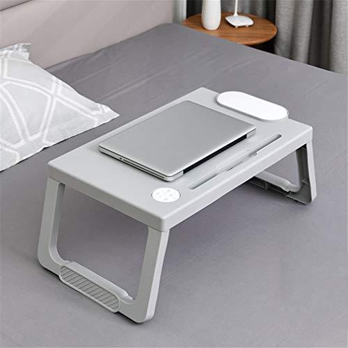 YERTYY Laptop-Tisch tragbare Falten mit Tablette Standplatz Slot Adjustable perfekt für das Lesen Frühstück oder Spiele Gray -