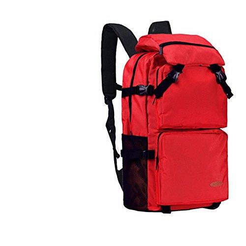 TBB-Doppia tracolla grande capacità viaggia zaino alpinismo sacchetto esterno impermeabile borsa svago,arancio grande Red