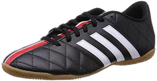 adidas 11questra In, Chaussures Multisport Indoor homme Noir - Schwarz (Schwarz/Weiß/Rot 000)