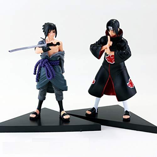 XIAOPING Naruto Juguete Escultura Sasuke Figura muñeca Estatua decoración Juguete Hecho a Mano