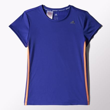 adidas Mädchen T-Shirt Clima, Night Flash S15/Flash Orange S15/Silver Met., 128, S20232