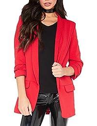f4b0f795012d Crazy Girls New Damen Rüschen Rüschen 3 4 Ärmel Duster Coat Damen Jacke Blazer  EU