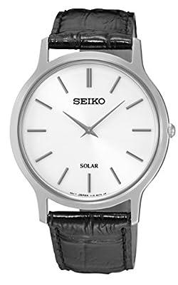 Seiko-Reloj de pulsera analógico para mujer cuarzo piel sup873p1