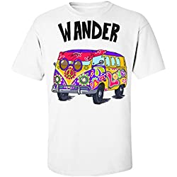 Wander Hippie Van With A Peace Sign Camiseta de hombre Men's T-Shirt Extra Large