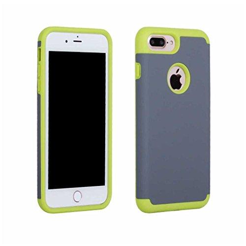 BoxTii®, custodia iPhone 7 [con protezione schermo in vetro temprato inclusa], in morbido TPU + cover rigida in policarbonato, anti-graffio e assorbimento degli urti 2in 1, custodia protettiva poster #4 Grey