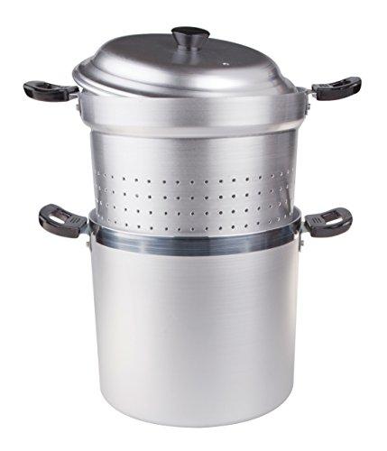 Mit Pasta Deckel Sieb Topf (Pentole Agnelli Pastatopf / Spaghettitopf mit Einsatz und Deckel, BLTF-Aluminium, Bakelitgriffe, 8l, 22cm, silberfarben)