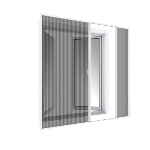 Wip Insektenschutztür Plisseetür Alu-Fliegengittertür 240x240cm weiß - Doppeltür