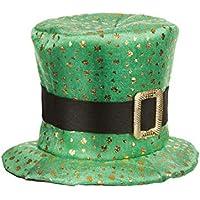 Sombrero de copa San Patricio trébol dorado adulto - Única feaa2ff89a0