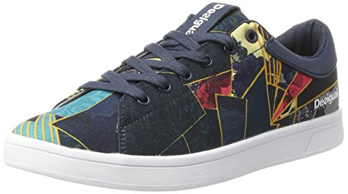 Desigual Damen Shoes_Court Patch, 39, 5188 Legion Blue Hallenschuhe, Blau, 39 EU